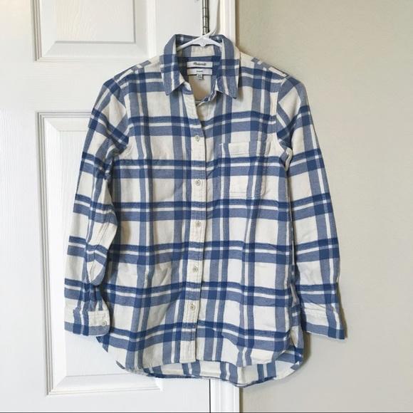 1e12389bbae Madewell Tops - Madewell flannel classic ex-boyfriend shirt XXS